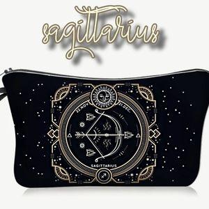 Astrology Sagittarius Makeup Bag Black Zodiac
